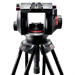 Cabeça Manfrotto 509HD c/ Ball 100mm + Plate 509PLONG p/ 13 Kg