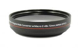 Grande Angular 0,48x Hd Converter Macro Dslr - Produto Usado