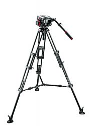 Tripé Manfrotto 545B c/ Cabeça 509HD - Suporta 13,5 Kg c/ Bag Inclusa