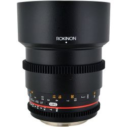 Lente Rokinon 85mm T1.5 AS UMC Cine DS p/ Canon