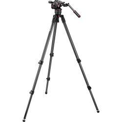 Cabeça de Vídeo Manfrotto  MVKN8C - Nitrotech N8 kit c/ Tripé de Fibra de Carbono 535
