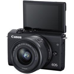 Câmera Canon EOS M200 - c/  Lente 15-45mm 3.5-6.3 IS STM