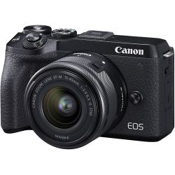Câmera Canon EOS M6 Mark II c/ Lente 18-150mm 3.5-6.3 IS