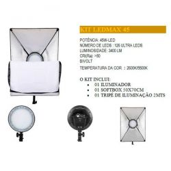 Softbox Greika Kit Ledmax 45