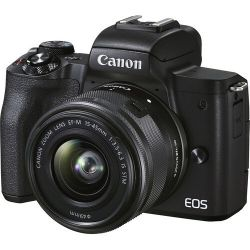 Câmera Canon EOS M50 Mark II c/ lente 15-45mm