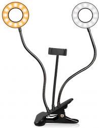 Ring Light Duplo Greika AL 06D c/ Adaptador Smartfone p/ Lives